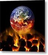 Climate Change, Conceptual Image Metal Print