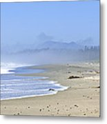 Coast Of Pacific Ocean In Canada Metal Print