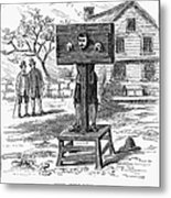 Colonial Pillory - To License For Professional Use Visit Granger.com Metal Print
