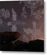 Constellations In A Night Sky Metal Print