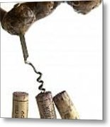 Corks Of French Wine. Metal Print by Bernard Jaubert