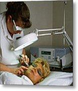 Cosmetic Laser Surgery Metal Print