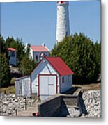 Cove Island Lighthouse Metal Print