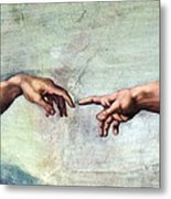 Creation Of Adam Metal Print by Sheila Terry