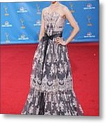 Dianna Agron Wearing A Carolina Herrera Metal Print by Everett