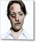 Domestic Violence Metal Print
