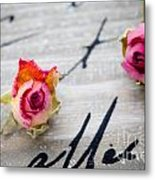 Dried Roses Metal Print