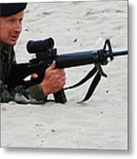 Dutch Royal Marines Taking Part Metal Print