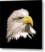 Eagle Profile Front Metal Print