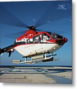 Eurocopter Ec135 Utility Helicopter Metal Print