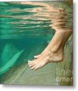 Feet Under The Water Metal Print