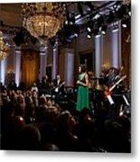 First Lady Michelle Obama Speaks Metal Print