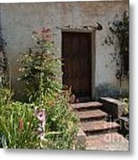 Gardens In Carmel Monastery Metal Print