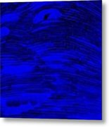Gentle Giant In Negative  Blue Metal Print