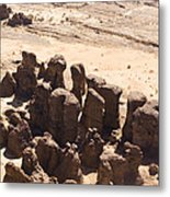 Giant Sandstone Outcroppings Deep Metal Print