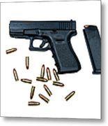 Glock Model 19 Handgun With 9mm Metal Print