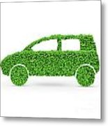 Green Car Metal Print