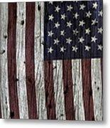 Grungy Textured Usa Flag Metal Print