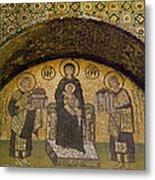 Hagia Sophia: Mosaic Metal Print