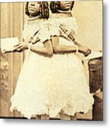 2 Headed Girl Millie-chrissie Metal Print by Photo Researchers