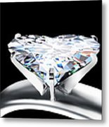 Heart Diamond Metal Print by Setsiri Silapasuwanchai
