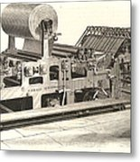 Hoe Web Printing Press Metal Print