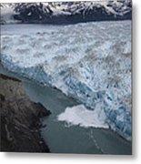 Hubbard Glacier Encroaching On Gilbert Point Metal Print