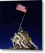 Iwo Jima Memorial At Dusk Metal Print