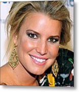 Jessica Simpson At Arrivals Metal Print by Everett
