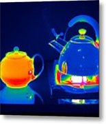 Kettle And Teapot, Thermogram Metal Print