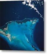 Landscape Of Earth Viewed From Space Metal Print