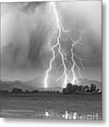 Lightning Striking Longs Peak Foothills 6 Metal Print by James BO  Insogna