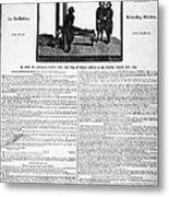 Louis Xvi: Execution, 1793 Metal Print