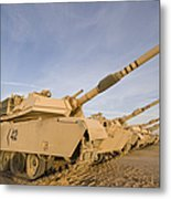 M1 Abrams Tanks At Camp Warhorse Metal Print