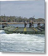 Marines And Sailors Tow An Improved Metal Print