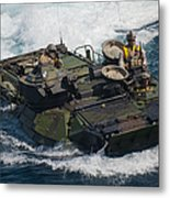 Marines Navigate An Amphibious Assault Metal Print