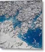 Meltwater Lakes On Hubbard Glacier Metal Print