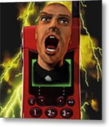 Mobile Phone Rage Metal Print