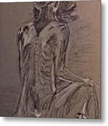 Model Drawing Metal Print