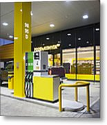 Modern Gas Station Metal Print by Jaak Nilson