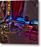 Music Studio Metal Print