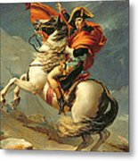 Napoleon Crossing The Alps On 20th May 1800 Metal Print