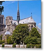 Notre Dame Cathedral Paris France Metal Print