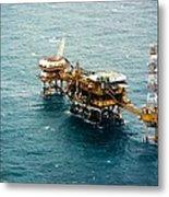 Oil Platform Metal Print