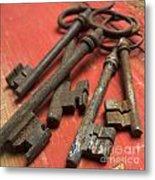 Old Keys Metal Print