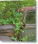 Overgrown Rusty Ford Pickup Truck Metal Print
