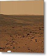 Panoramic View Of Mars Metal Print