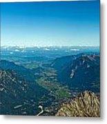 Panoramic View Zugspitze German Austrian Boarder Metal Print