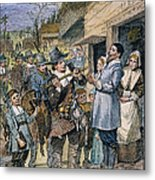 Pilgrims: Thanksgiving, 1621 Metal Print