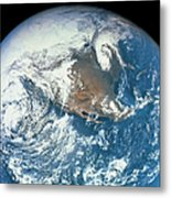 Planet Earth Viewed From Space Metal Print by Stockbyte